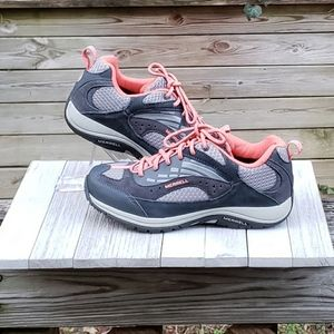 Merrell Sneakers Grey Peach Lace Up Low Top